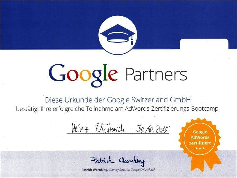 Google Partner AdWords 2015