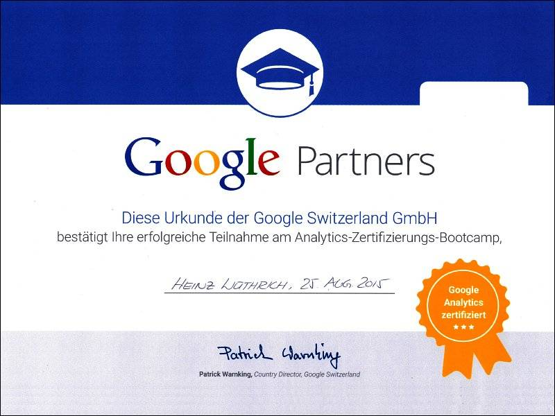 Google Partner Analtytics 2015